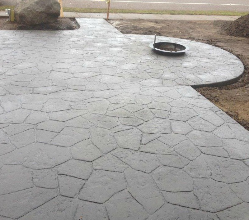 Basic stamped concrete