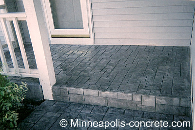 concrete decorative overlay - stamped