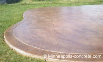 Patio Concrete Stain Ideas Overland Park Concrete Polishing Concrete ...