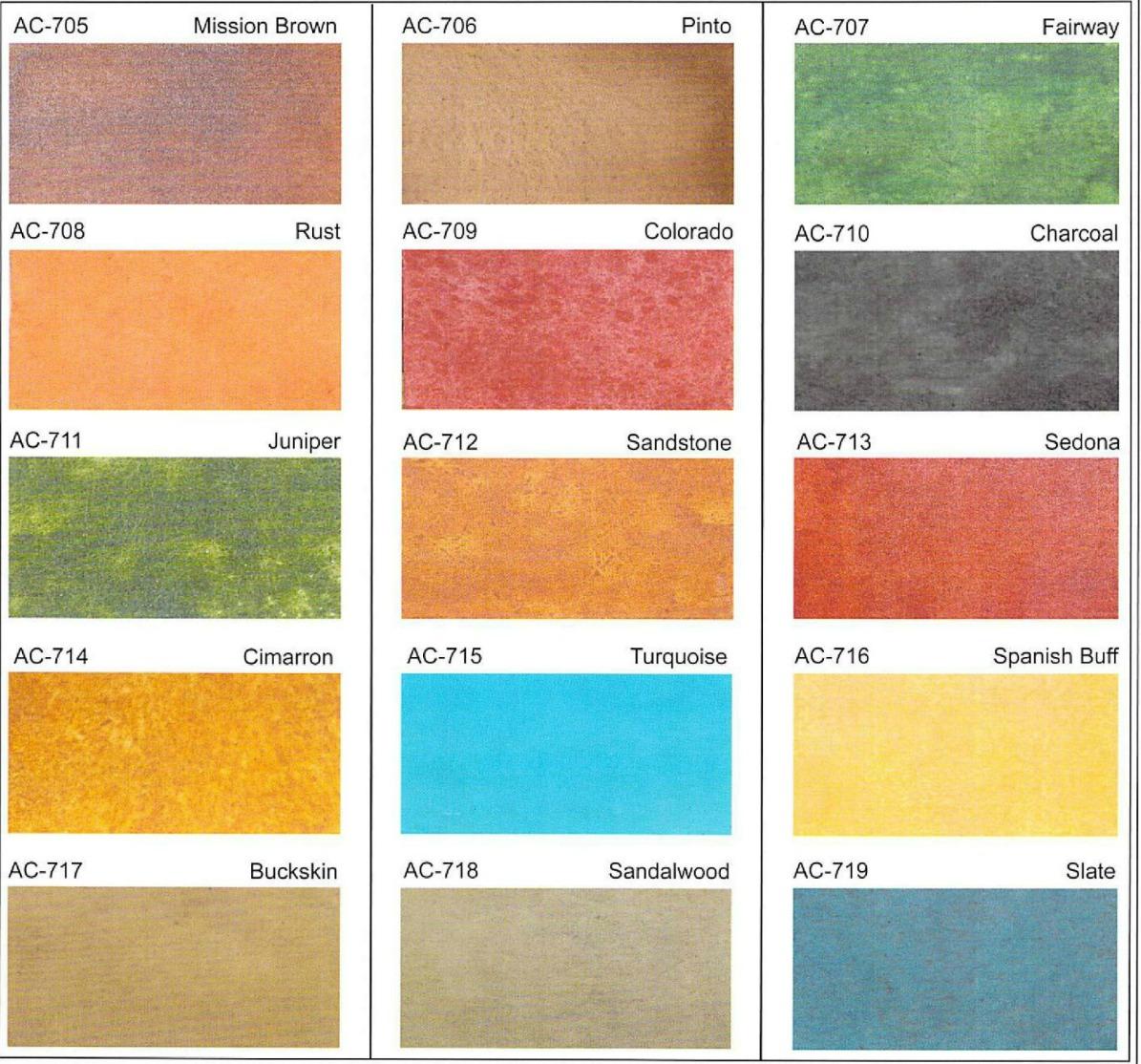 Acid Stain Concrete Colors