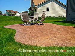 Patio Ideas - Curved and Sloped Patio